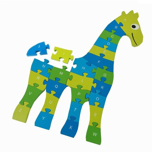 Giraffe Puzzle - Blue and Green - BuitenSpeel