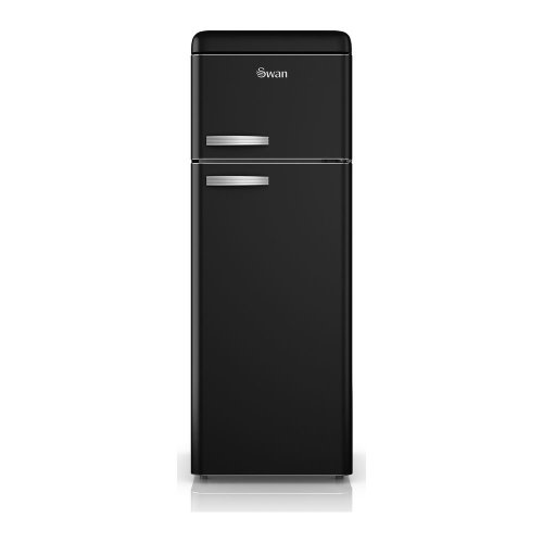SWAN SR11010BN Fridge Freezer - Black, Black