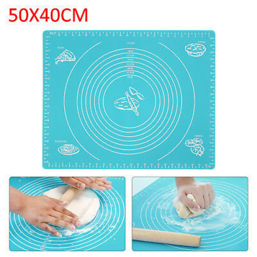 50x40cm Silicone Rolling Pastry Mat for Fondant Cookies Cake Sugarcraft Icing