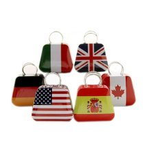 Set of 6 Retro Tin Boxes, Pill Boxes-The Six National Flags Series,Random Style