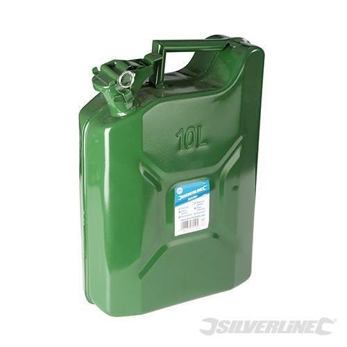 10l Silverline Leak-proof Jerry Can - 10 563474 10ltr Fuel Metal -  can jerry silverline 10 563474 10ltr fuel metal