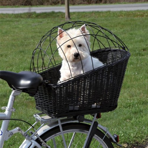 Rear Mounted Bicycle Wicker Basket for Pets