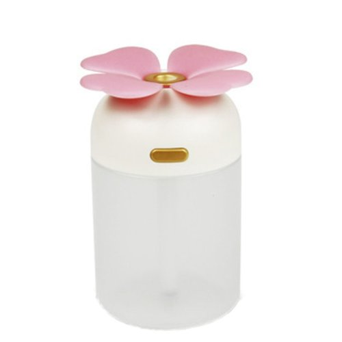 Mini Four-Leaf Clover Portable USB Air Freshener Humidifier, Pink