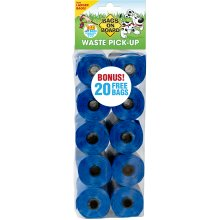 """Bags On Board Bag Refill Pack 140 9""""X14"""" Bags-Blue"""