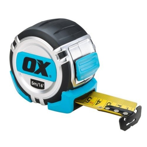 Ox P028905 Pro Heavy Duty Tape Measure - 5m Metric Only