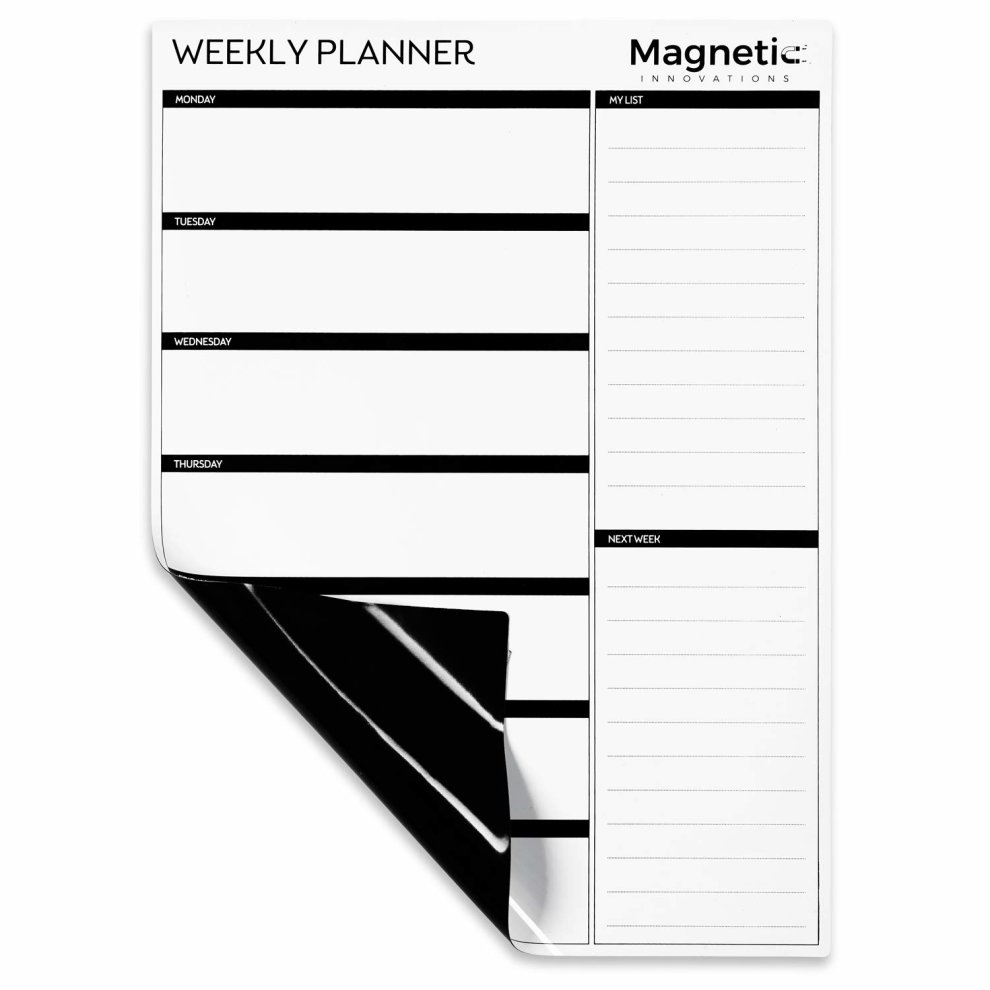 image relating to Weekly Family Planner referred to as Magnetic Developments Hefty A3 Dry Wipe Magnetic Whiteboard, Excellent as a Weekly Relatives Planner Evening meal Planner Memo Board Calendar Research Planner