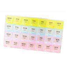 A Week 28 Grids Mini Portable Transparent Pill Case Assure To Remind
