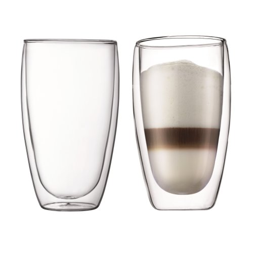 Bodum 4560-10 Pair of PAVINA Double Walled Thermo Glasses 0.45 L, 15 oz - Transparent
