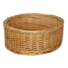 Extra Large Round Straight-sided Wicker Tray