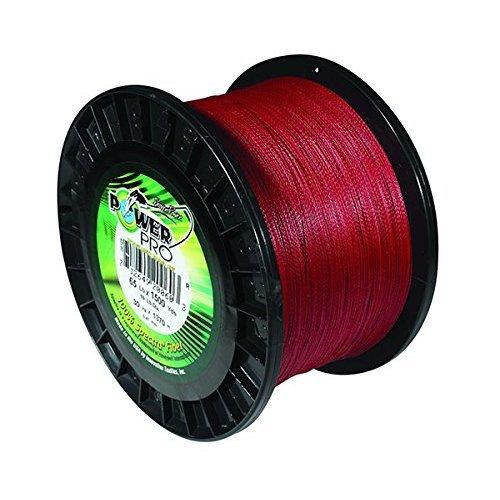 PowerPro Power Pro 21100150500V Braided Spectra Fiber Fishing Line, 15 Lb/500 yd, Vermilion Red