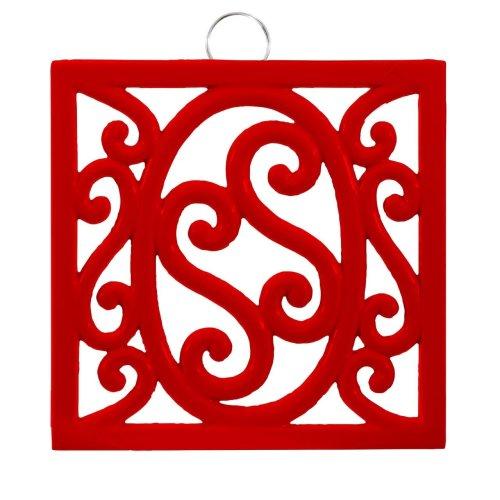Cast Iron Trivet, Red