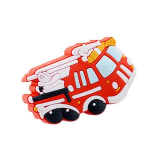 Set of 4 Door Handles Lovely Children Drawer Handles Fire Truck Pattern Gifts