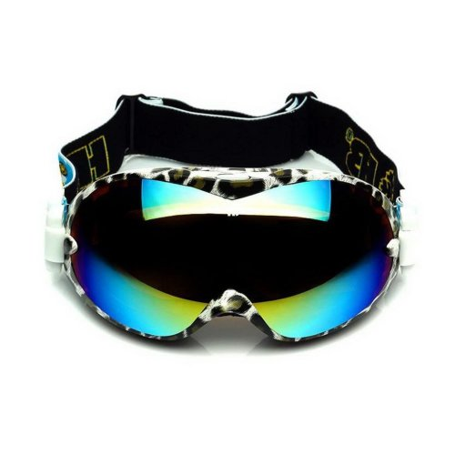 Animal Print Ski Goggles for Adult Coated Colorful Lens Dual-layers Goggles