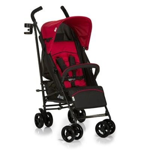 Hauck Speed Plus 4 Wheel Umbrella Fold Pushchair with Raincover, from Birth to 22 Kg, Red/Black