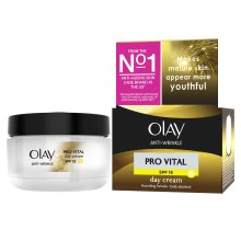 Olay Anti-Wrinkle Pro Vital Anti-Ageing Moisturiser Day Cream SPF 15, 50 ml