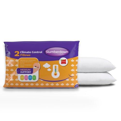 Slumberdown Climate Control Pillows x 2,White