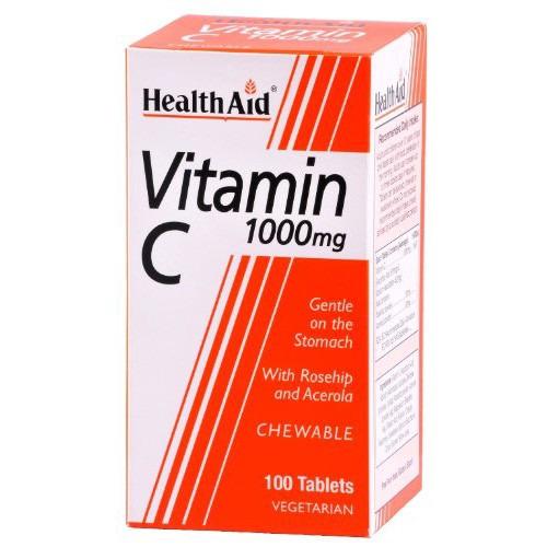 Healthaid Vitamin C 1000mg - Chewable (orange Flavour)   Tablets  60's