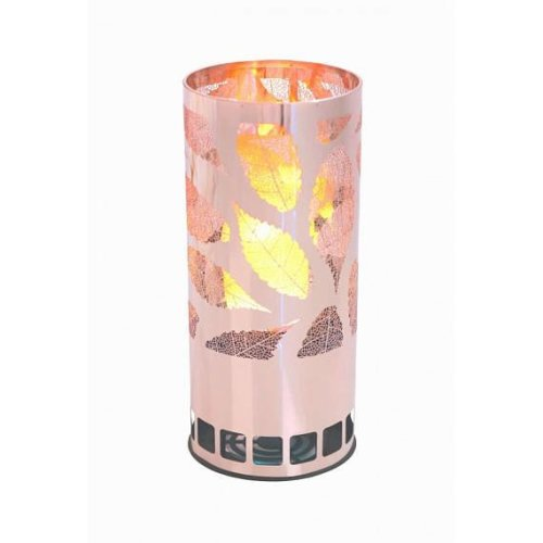 Silk Flame Effect :amp - Round LEAF BRAZIER in Copper
