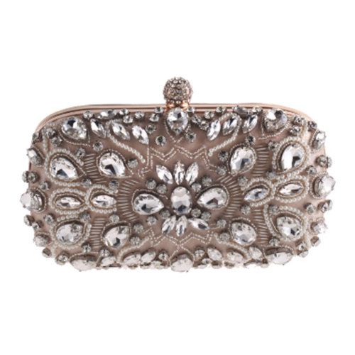 Women's Vintage Style Clutch Evening Bag Elegant Beaded Bag Luxurious Handbag Purse Cocktail Party,E