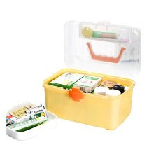 "[YELLOW] Creative Large Portable First Aid Kit Travel Medical Box, 11.8""x7.3"""