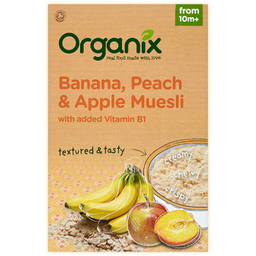 Organix Organix Banana  Peach and Apple Muesli 200g