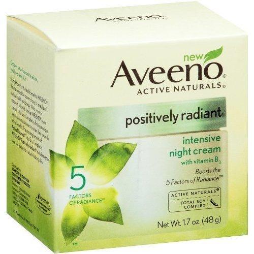 Aveeno Positively Radiant Intensive Night Cream, 1.7 Ounce