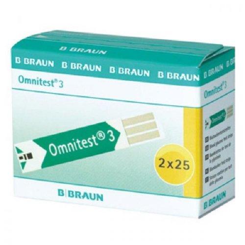 Braun Omnitest Blood Glucose Test Strips - 2 x 25 Test Strips