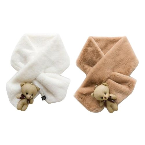 Set of 2 Cute Kids Scarves Children's Scarves Suitable for Winter [R]
