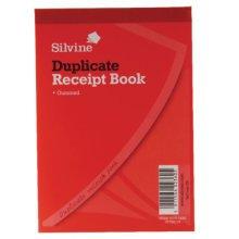 Silvine Duplicate Cash Receipt Book 100 Sheets - Pack Of 12 -  silvine receipt gummed duplicate book 230 105x148mm pack 4x525 12 inches