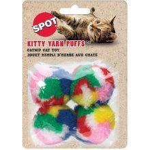 "Kitty Yarn Puffs 1.5"" 4/Pkg-Assorted Balls"