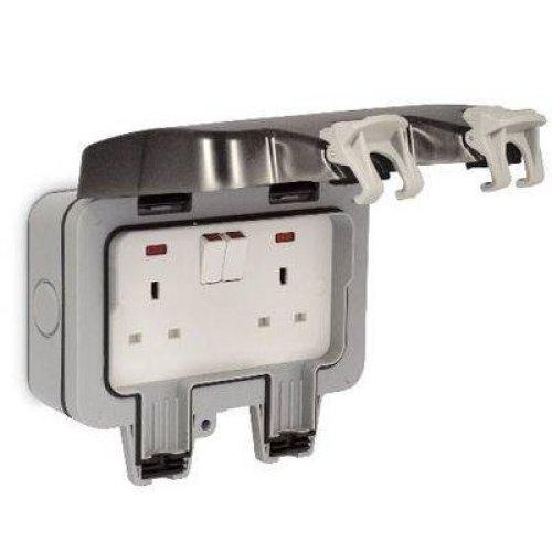Masterplug WP22-01 Weatherproof Outdoor Switched Sockets  IP66