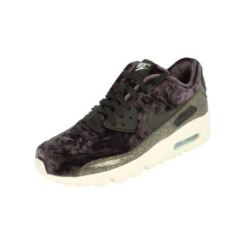 Nike Air Max 90 Pinnacle QS GS Running Trainers AH8287 Sneakers Shoes (uk 5.5 us 6Y eu 38.5, black reflecitve silver 001)