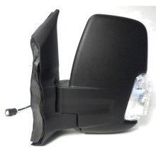 Ford Transit Mk8 (2014 On) Black Electric Short Arm Wing Door Mirror Passenger Side
