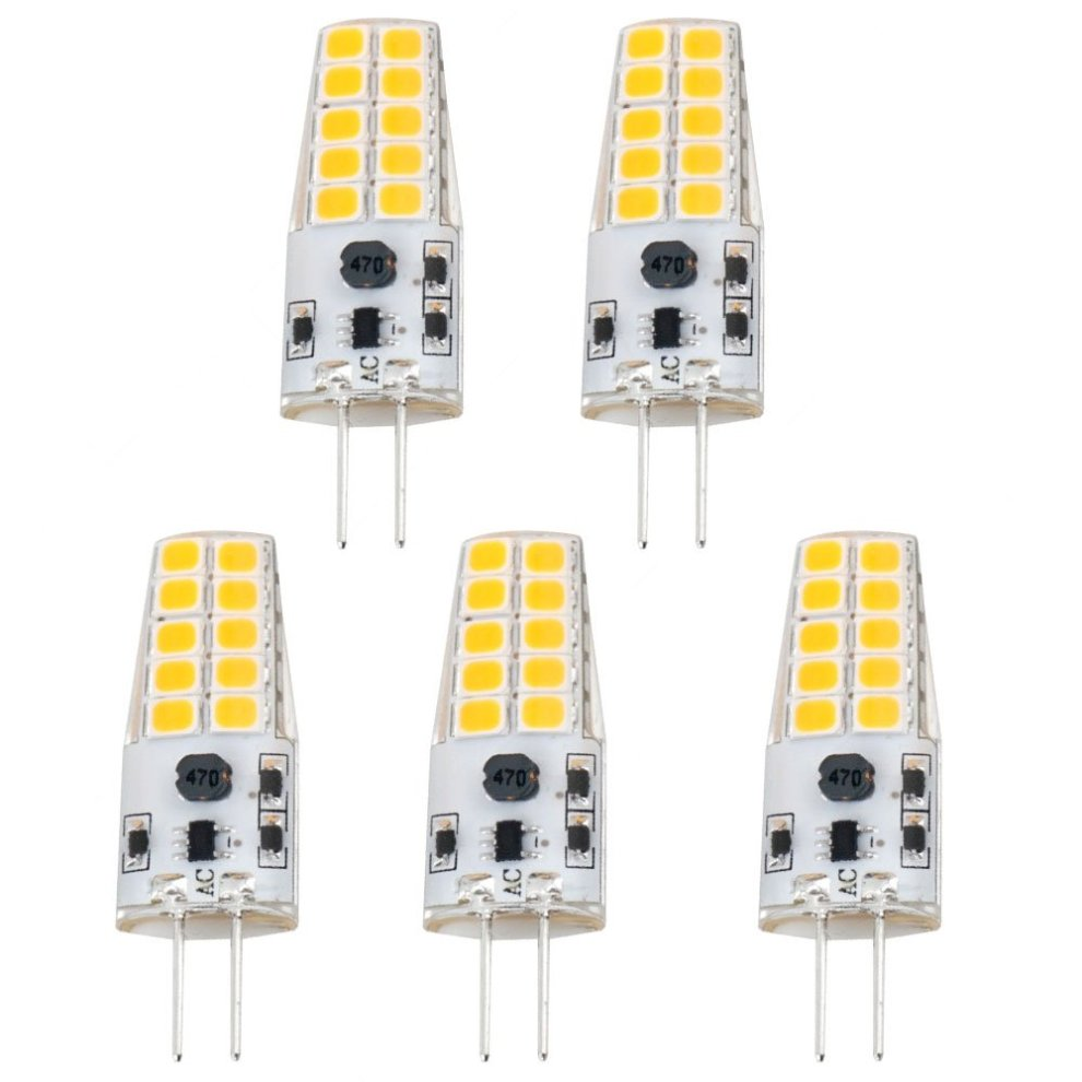 Luxvista 3w G4 Led Light Bulb Capsule Lamp Light Cool White 6000k 12v Ac Dc 20w 30w Halogen Equivalent 5 Pack