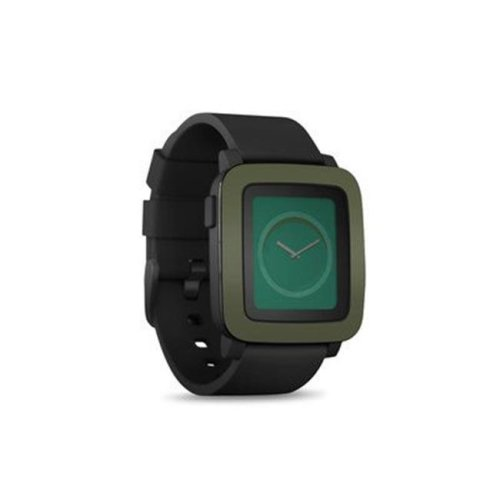 DecalGirl PSWT-SS-OLV Pebble Time Smart Watch Skin - Solid State Olive Drab