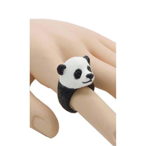 Creative Cute Handmade Resin Simulation Panda Ring