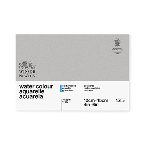 Winsor & Newton Classic 10.2 x 15.2 cm 300 gsm Cold Pressed Water Colour Paper Postcard Pad