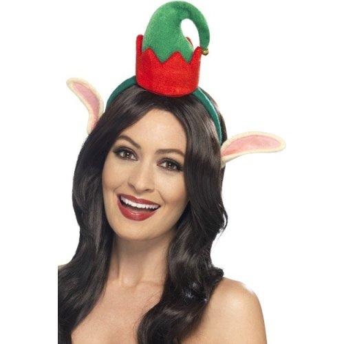 fdb68dc4a3196 Mini Elf Hat With Ears - mini elf hat christmas fancy dress adult ears headband  costume new on OnBuy