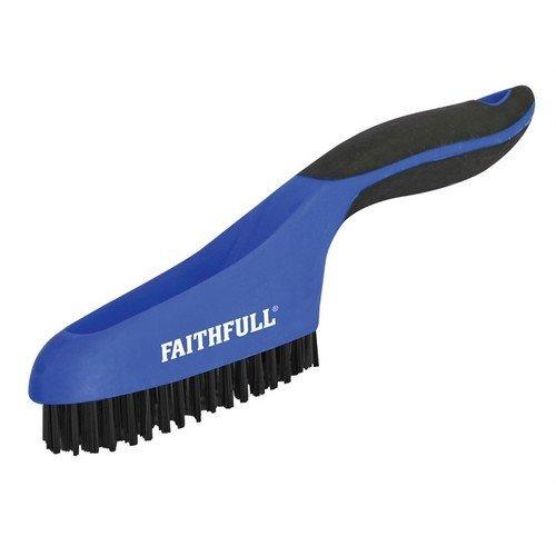 Faithfull FAISB164SP Scratch Brush Soft Grip 4 x 16 Row Plastic