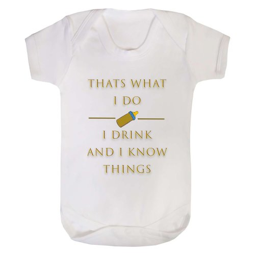 "Baby Grow ""I Drink And I know Things"""