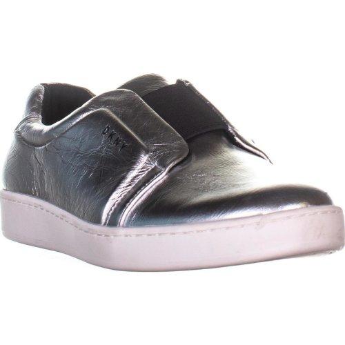 DKNY Bobbi Slip On Fashion Sneakers, Silver, 7 UK