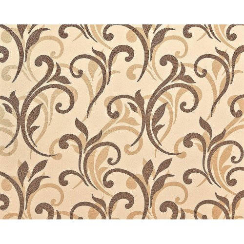 EDEM 928-26 non-woven floral wallpaper XXL abstract flowers brown beige 10.65sqm