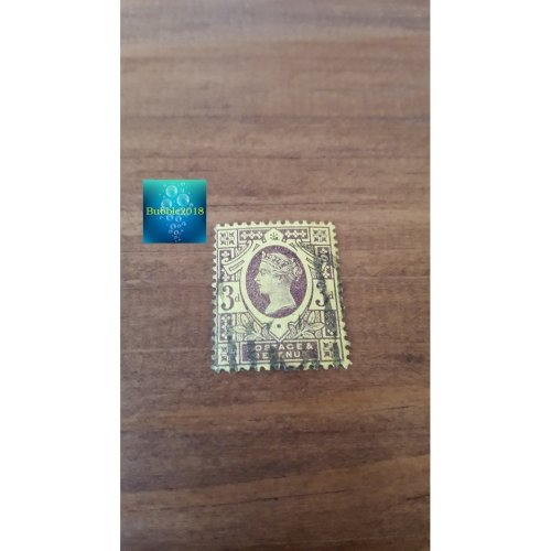 """Great Britain 1887 """" Queen Victoria Surfaced Printed Jubilee Issue""""3 d - British penny (old)"""
