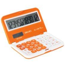 Foldable Mini Pocket Calculator Solar Power Scientific Calculators Orange