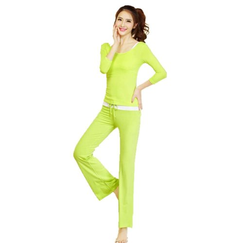 Womens Dance Clothes Yoga Wear Set 3 Pieces Fitness Yoga Apparel Dance Outfit