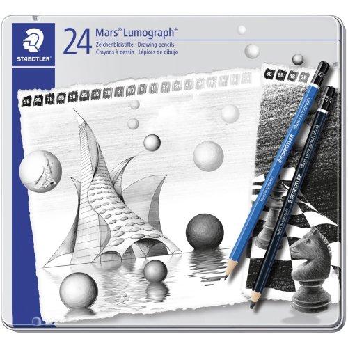 Mars Lumograph Drawing Pencils 24/Pkg-