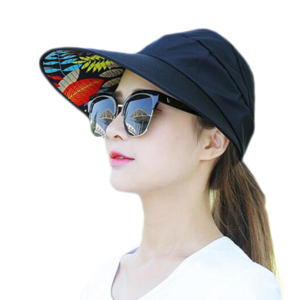 Fashion UV Protection Hat Elegant Sunscreen Hat For Women Skin Care-Black  ... f5fa5c5298a