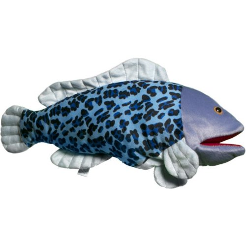 Sunny Toys NP8135 16 In. Tropical Fish - Half-Spotted Hankfish, Animal Puppet