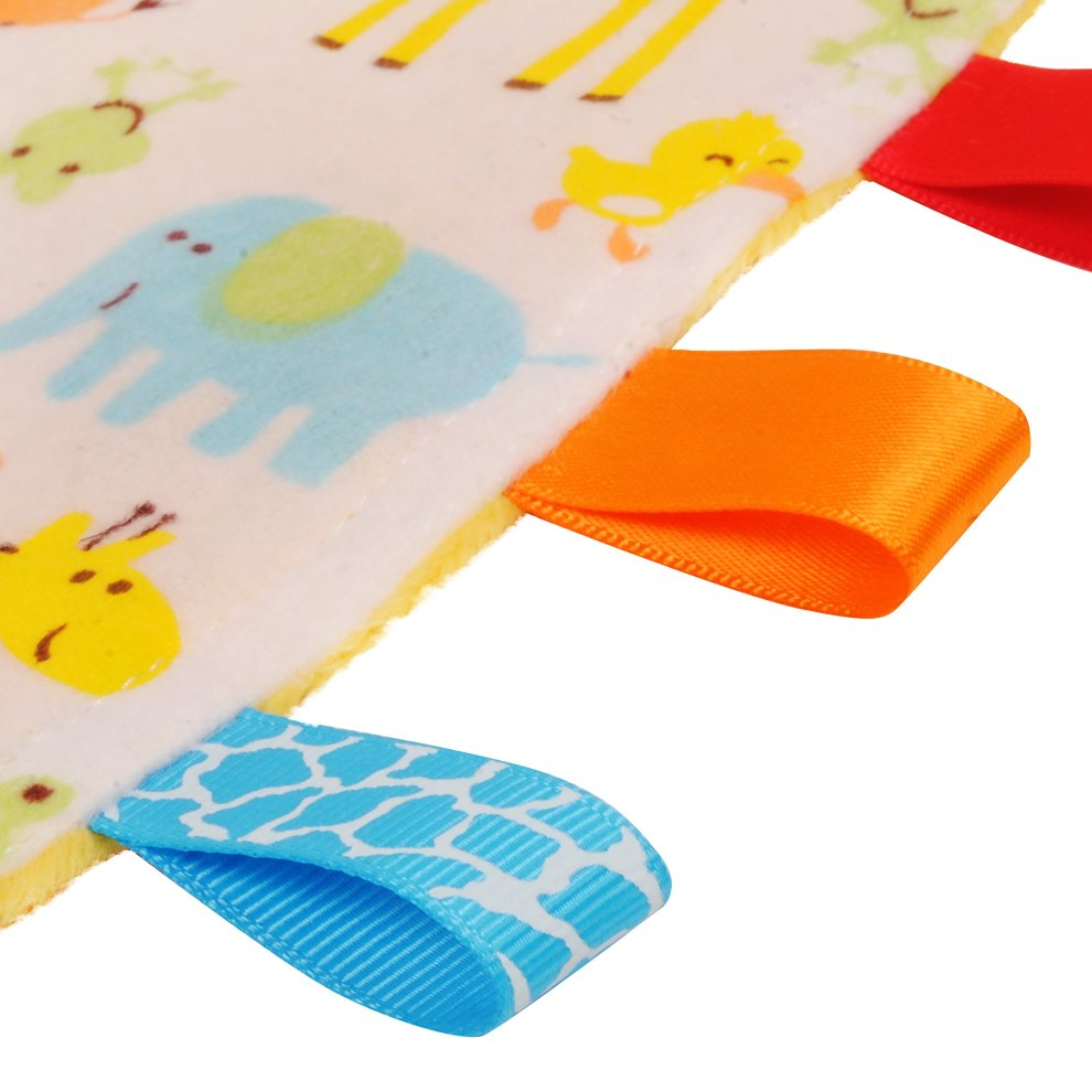 Plain Blue Textured Underside Blue Baby Tag Elephant and Chick Animal Tag Blue with Giraffe Taggy Blanket Taggy Blanket