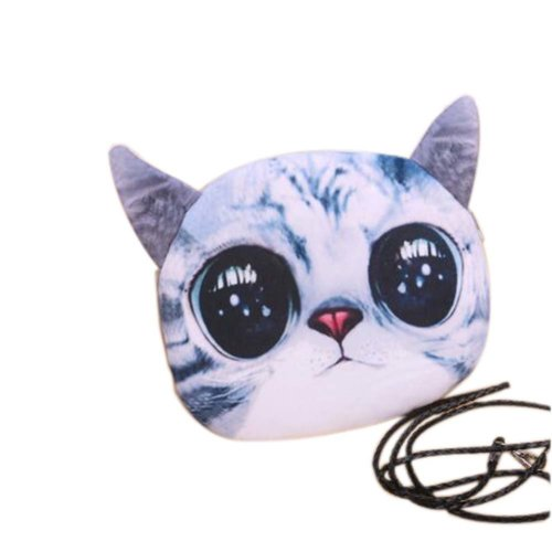 2 Pieces Of Cute Cartoon US-pupil Cat Child Messenger Bag/Purse